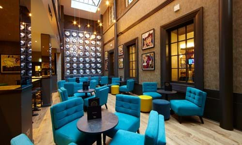 Malmaison Hotel Glasgow bar area