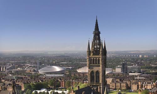 View across Glasgow from the University of Glasgow viewpoint