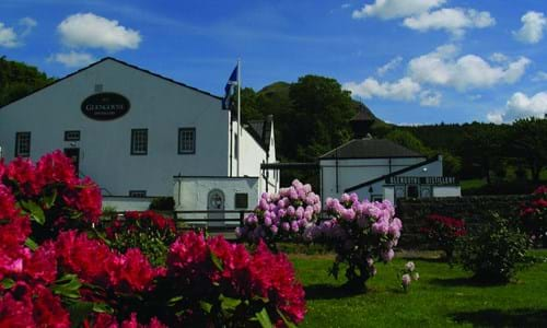Exterior of Glengoyne Distillery and gardens