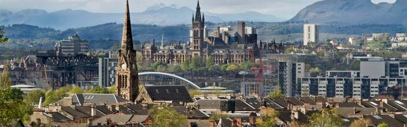Daytime cityscape of the city of Glasgow