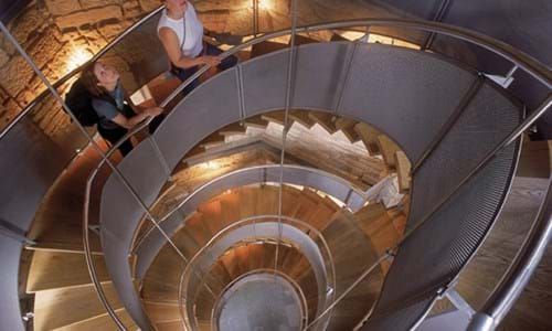 Feature spiral staircase within the Lighthouse Glasgow