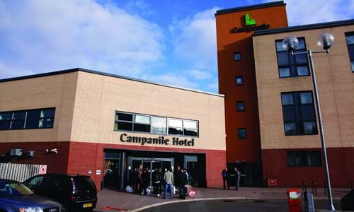 Exterior view of the Campanile Hotel in Glasgow