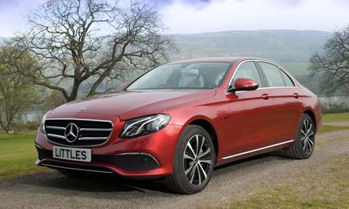Mercedes car, exterior countryside background