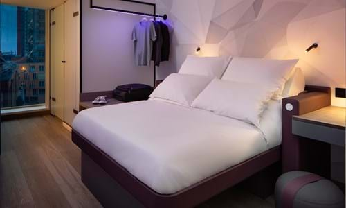 Bedroom at Yotel